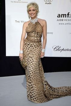 Moda Milano 2012: Sharon Stone special guest del party Just Cavalli