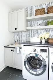 Laundry Room Cabinet Ideas With Blue Green And Gray Colors