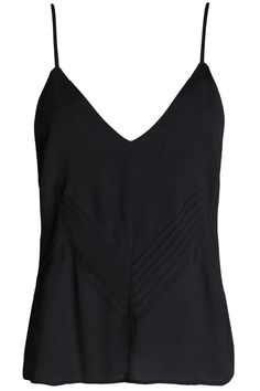 Shop on-sale ANINE BING Pintucked crepe de chine camisole. Browse other discount designer Camisoles and Chemises & more on The Most Fashionable Fashion Outlet, THE OUTNET. Anine Bing, Fashion Outlet, Straight Leg Pants, Black Tops, Luxury Fashion, Camisole Top, V Neck, How To Wear, Clothes