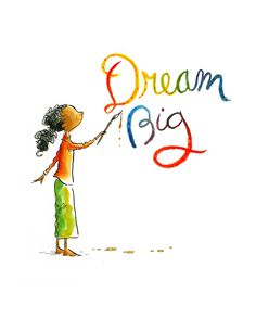 A print by Peter H Reynolds, one of my favourite author/illustrators :-)