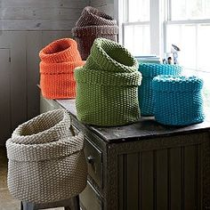 Knitted Baskets - no instructions :(