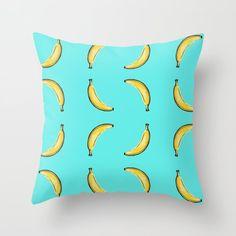 Bananas Throw Pillow by chaploart | Society6