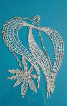 Lace Art, Lace Jewelry, Bobbin Lace, Lace Detail, Crochet Necklace, Butterfly, Album, Pattern, Christmas