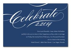 Celebrate in Navy - Corporate Invitations by Invitation Consultants. (Item # IC-RLP-125 )