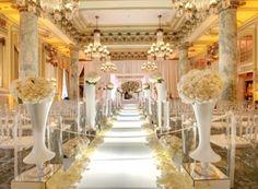 Decoração de casamento dourado e branco 2
