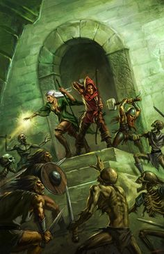 One of the early partnerships the Chronicle City announced was with Uhrwek Verlag, the German publishers and owners of very popular Dungeonslayers RPG. Dark Fantasy, Fantasy Battle, Fantasy Rpg, Medieval Fantasy, Fantasy Artwork, Fantasy World, Dcc Rpg, Art Visionnaire, Fantasy Pictures