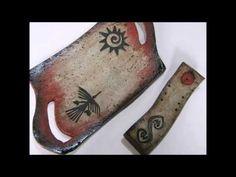Seminario de Pasta piedra Pasta Piedra, Stencil Patterns, Clay Crafts, Stencils, Pottery, Youtube, Decor Ideas, Google, Paper Mache
