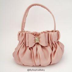 Baby Handbag Purse Baby Orange Purse Flower Girl by BySophiaBaby - Women's fashion and Women's Bag trends Fabric Handbags, Pink Handbags, Fashion Handbags, Purses And Handbags, Large Handbags, Cheap Handbags, Luxury Handbags, Gold Purses, Beaded Purses