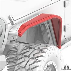 Jeep Wrangler JK 8' Overline Front Tube Fender Flare is the only removable Jeep Flare on the market today. Part of the MetalCloak dynamic Jeep body armor system that includes fenders, flares, corner guards, Jeep  bumpers and Jeep rocker protection.