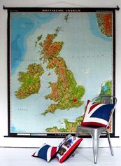 Home Decor - UK love! Hang a wall map of the places you've visited! Find yours here http://www.mapsales.com/?utm_source=pinterest&utm_medium=pin&utm_campaign=caption