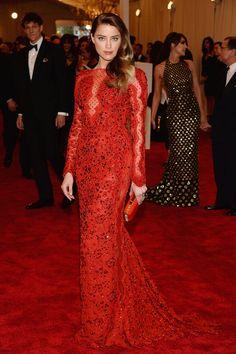 Amber Heard wearing a Emilio Pucci dress. 2013 Met Gala.