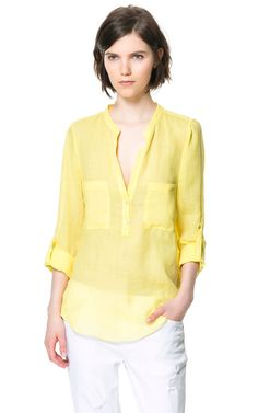 SHIRT WITH POCKETS - Tops - Woman | ZARA United States $60 #work