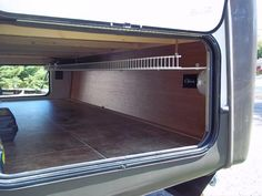 Pass through storage mod - CrossRoads RV Family Forum Fishing Pole Storage, Fishing Pole Holder, Easy Small Wood Projects, 2015 Silverado, Stuck In The Middle, Extra Rooms, Well Thought Out, Truck Camper, Campers