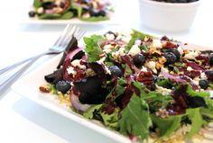 Blueberry Pecan Salad with Quinoa & Goat Cheese   Hummusapien