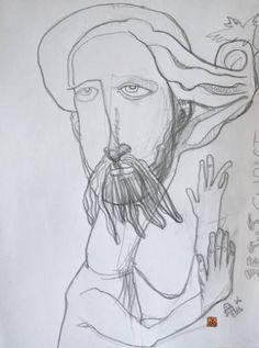 "Saatchi Art Artist Iordache Alice; Drawing, ""Jesus Christ Epiphany - Original Art Drawing by Alice Iordache"" #art"