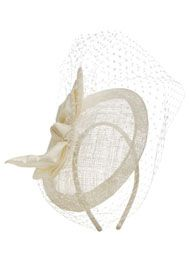 F Satin Bow Fascinator, Mother of the bride