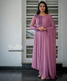 39 Trendy Embroidery Designs For Neck Salwar Kameez Kalamkari Dresses, Salwar Dress, Anarkali, Salwar Kameez, Stylish Dress Designs, Stylish Dresses, Fashion Dresses, Churidar Designs, Kurta Designs Women