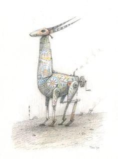 Home-made antelope, Shaun Tan