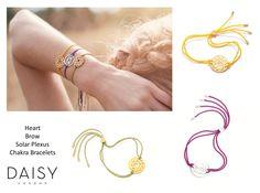Chakra_Heart_Brow_Solar Chakra Bracelet, Brows, Solar, Daisy, Gray, Heart, Bracelets, Jewelry, Eyebrows