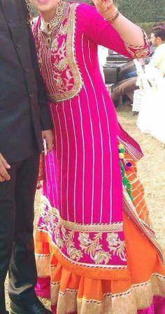 Lehenga for engagement Pakistani Outfits, Indian Outfits, Punjabi Dress, Punjabi Suits, Salwar Suits, Designer Party Wear Dresses, Party Dresses, Look Short, Indian Designer Suits