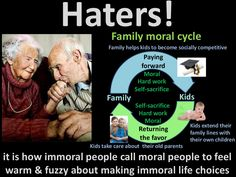 Haters! Returning the favor Family Kids Moral Paying forward Hard work Self-sacrifice Moral Hard work Self-sacrifice Kids ...