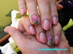 Natural looking almond shaped nails by nails2wear - Nail Art Gallery nailartgallery.nailsmag.com by Nails Magazine www.nailsmag.com #nailart