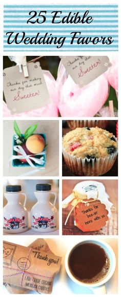 Everyone will love this wedding favors ideas - 25 edible wedding favors.