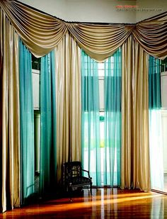 Beautiful  Elegant Formal Living Room Drapery made by Tracy Arnold   Find this Pin and more on Cortinas  Use Colorful Living Room Curtains  . Beautiful Drapes For Living Room. Home Design Ideas