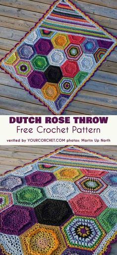 Dutch Rose Blanket  Dutch Rose Throw Pattern has been designed during the wintertime, but I can prove to you that it is a perfect pattern for summer too :)