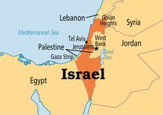 Dit is een plaatje van de kaart van Isreal, hier woonde Jezus en zijn een aantal van de wonderen verricht.