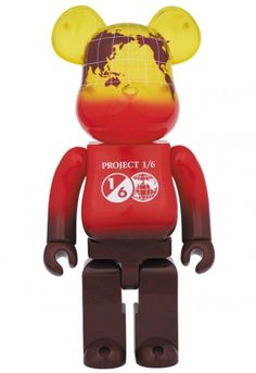 F/S Medicom Toy BE@RBRICK 400% EARTH VOLCANO RED ver Bearbrick Figure from Japan #MEDICOMTOY