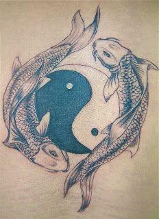yin yang koi carp tattoo... feelings of zen