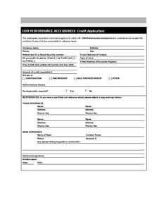 Credit Application Form   Krediet Applikasies