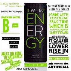 Our newest product! Our very own energy drink!! Loaded with lots of vitamins and antioxidants with pear and blueberry favors it tastes great!!!Try a single can for 3.50 or get 24 cans for 60$