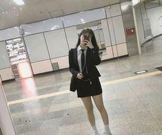 girl, pretty y korean imagen en We Heart It Korean Uniform School, Korean Outfits School, School Uniform Outfits, Cute School Uniforms, School Girl Outfit, Girl Outfits, Fashion Outfits, Cute Korean Girl, Asian Girl