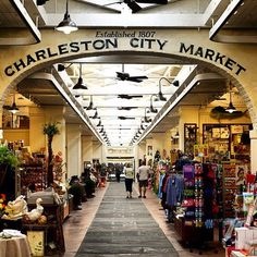 The historic City Market in Charleston, S., is one of the oldest public markets in the U. Amazing place to buy authentic souvenirs like sweetgrass baskets and benne wafers! It's one of my favorite places to go! Oh The Places You'll Go, Great Places, Places To Travel, Beautiful Places, Vacation Places, Vacation Destinations, Vacation Spots, Amazing Places, Charleston Caroline Du Sud