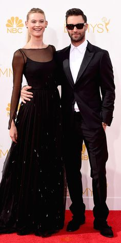Emmy Awards 2014 Red Carpet Photos - Adam Levine and Behati Prinsloo from #InStyle