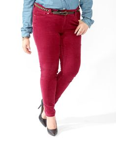 Corduroy Skinnies  #Forever 21   amazing red color.