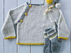 Sticka finaste barntröjan med knappar – så enkel att även en nybörjare klarar det!