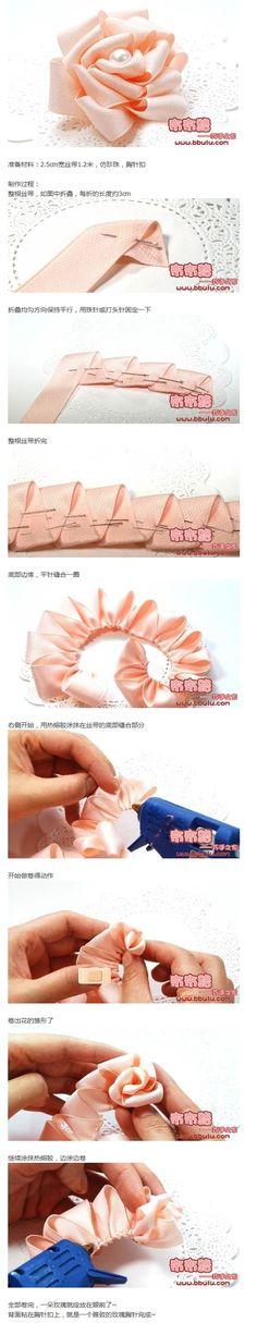 雅致的丝带玫瑰 来源:http://www.bbulu.com/thread-1625-1-4.html