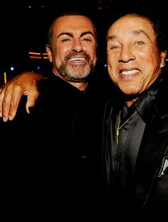In memory of George Michael / George with Smokey Robinson