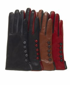 Women's Italian Cashmere Lined Gloves with Buttons By Fratelli Orsini | Free USA Shipping at Leather Gloves Online