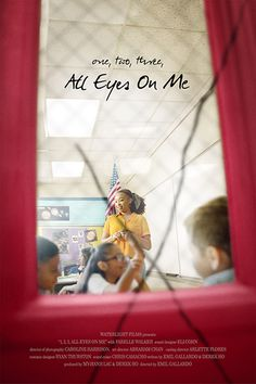 """#2289. One, Two, Three, All Eyes On Me, April, 2021. To get her classes attention, elementary art teacher Ms. Leena says """"One,two, three, all eyes on me."""" She assigns the class to paint colorful portraits of each other. When she takes Anthony out in the hallway, she notices an older teenager spray painting, X's on some of the portable classrooms. Later he is one of the two gunman attacking the school, and Ms. Leena's phrase to lead her children to safety becomes essential for survival. Portable Classroom, Temporary Storage, Star Rating, All About Eyes, Spray Painting, Elementary Art, Ms, Two By Two, Safety"""