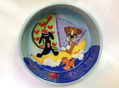 Pet Lovers 8 Dog Bowl for Food or Water Personalized at no Charge Signed by Artist Debby Carman >>> Learn more by visiting the image link.(This is an Amazon affiliate link and I receive a commission for the sales)