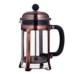 Mandarin-Gear Copper Stainless Steel French Press Coffee Maker, 28 oz / 800 ml * Click image for more details.