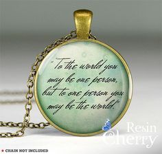 vintage quotes pendant jewelryfamous love pendant by resincherry, $11.95