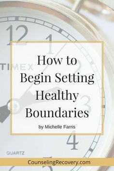 Learning how to set boundaries isn't difficult. There are simple steps that will help you get started like redirecting your focus...click image to read more.