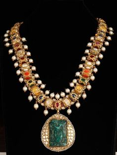 navrattan jewellery, necklace, colorful necklace,  engraved necklace ,