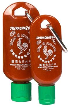 Sriracha2Go and Mini-S2G! Need sriracha all day? Bring Sriracha2Go! Need sriracha for one meal? Bring Mini-S2G! Whatever the situation, sriracha will be by your side!