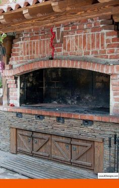 """Receive fantastic ideas on """"built in grill patio"""". They are accessible for you on our internet site. Outdoor Kitchen Patio, Pizza Oven Outdoor, Outdoor Kitchen Design, Outdoor Cooking, Outdoor Rooms, Built In Braai, Built In Grill, Brick Grill, Diy Grill"""